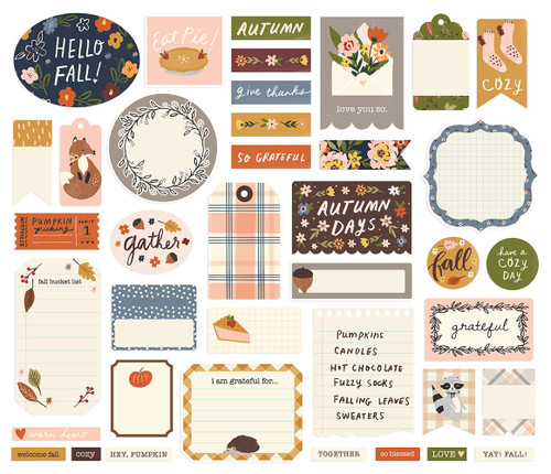 Cozy Days Collection Journal Bits Die Cut Scrapbook Embellishments by Cozy Days