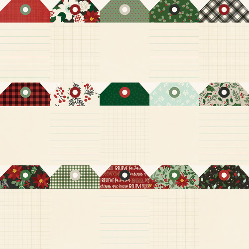 Jingle All The Way Collection Tags 12 x 12 Double-Sided Scrapbook Paper by Simple Stories