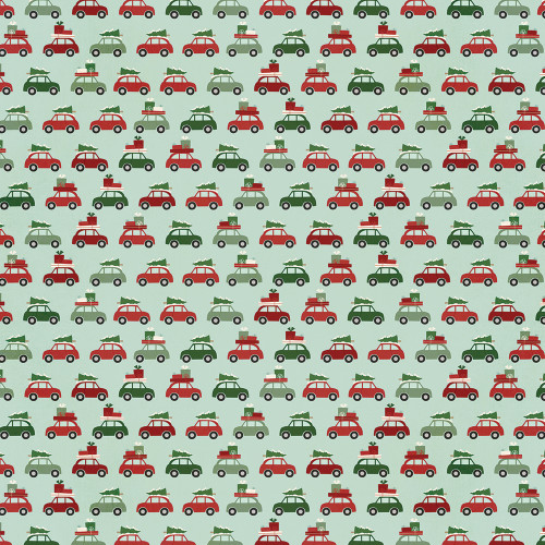 Jingle All The Way Collection 4x4 Elements 12 x 12 Double-Sided Scrapbook Paper by Simple Stories
