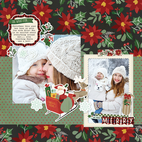 Jingle All The Way Collection 12 x 12 Scrapbook Sticker Sheet by Simple Stories