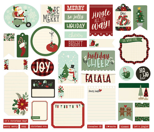 Jingle All The Way Collection Journal Bits Die Cut Scrapbook Embellishments by Jingle All The Way