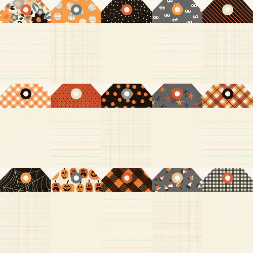 Boo Crew Collection Tags 12 x 12 Double-Sided Scrapbook Paper by Simple Stories