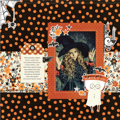 Boo Crew Collection 12 x 12 Cardstock Scrapbook Sticker Sheet by Simple Stories