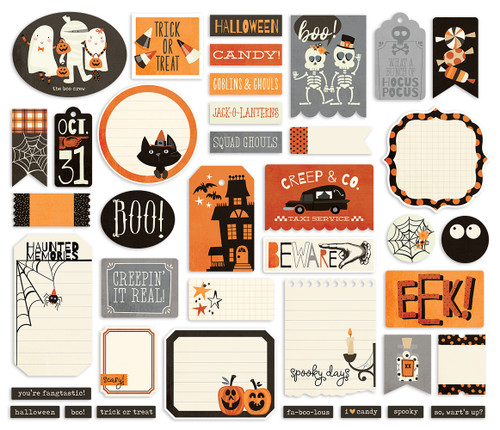 Boo Crew Collection Journal Bits Die Cut Scrapbook Embellishments by Simple Stories