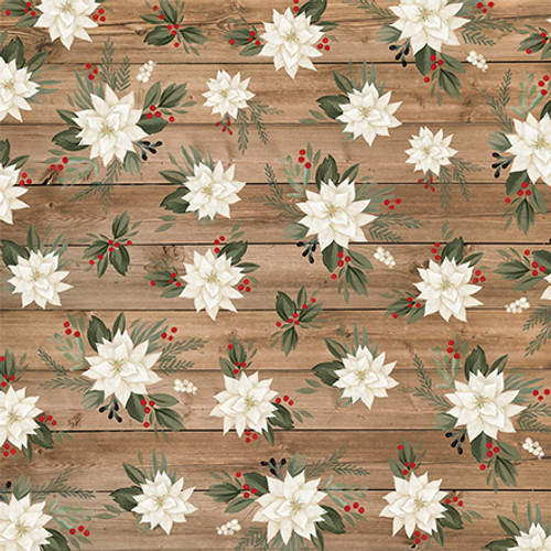 Farmhouse Christmas Collection Border Strips 12 x 12 Double-Sided Scrapbook Paper by Carta Bella