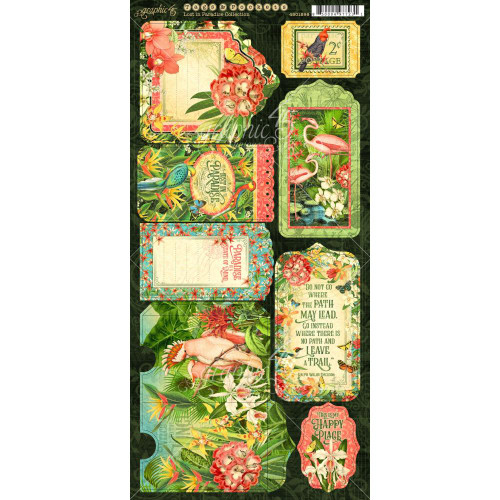 Lost In Paradise Collection 6 x 12 Double-Sided Scrapbook Cardstock Die Cuts by Graphic 45