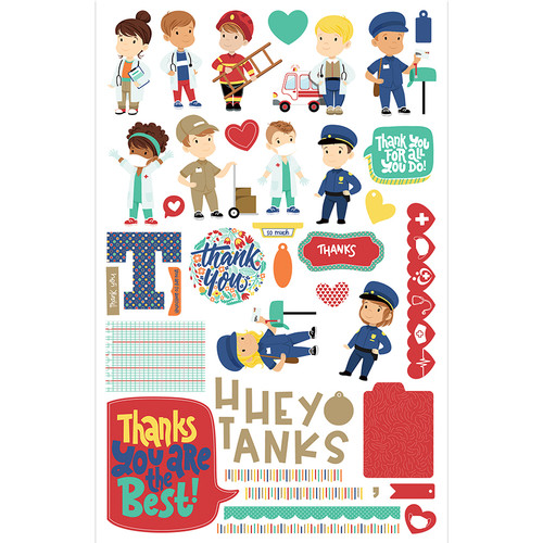 First Responders Thank You Card Kit by Photo Play Paper