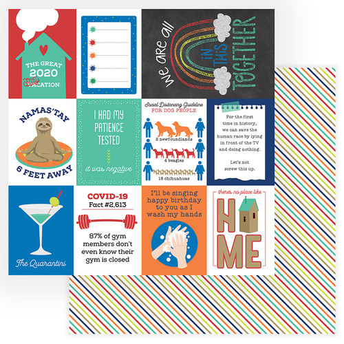 The New Normal Collection Quarantini 12 x 12 Double-Sided Scrapbook Paper by Photo Play Paper