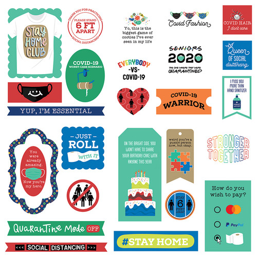 The New Normal Collection 5 x 5 Die Cut Scrapbook Embellishments by Photo Play Paper