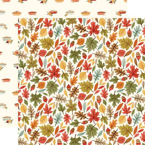 Hello Autumn Collection Leaves 12 x 12 Double-Sided Scrapbook Paper by Carta Bella