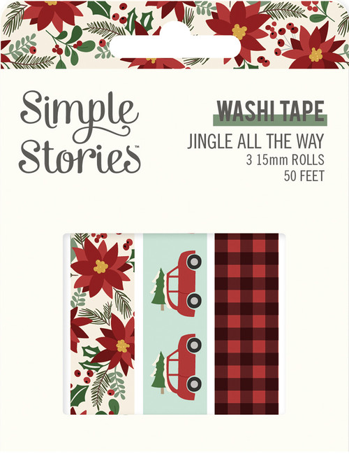 Jingle All The Way Collection Washi Tapes by Simple Stories - 3 Designs