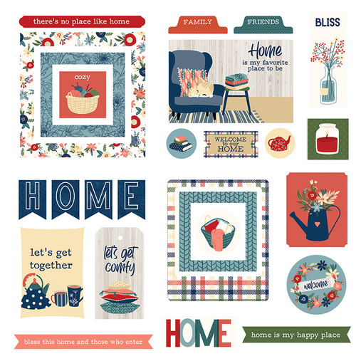 Heart & Home Collection 5 x 5 Die Cut Scrapbook Embellishments by Photo Play Paper