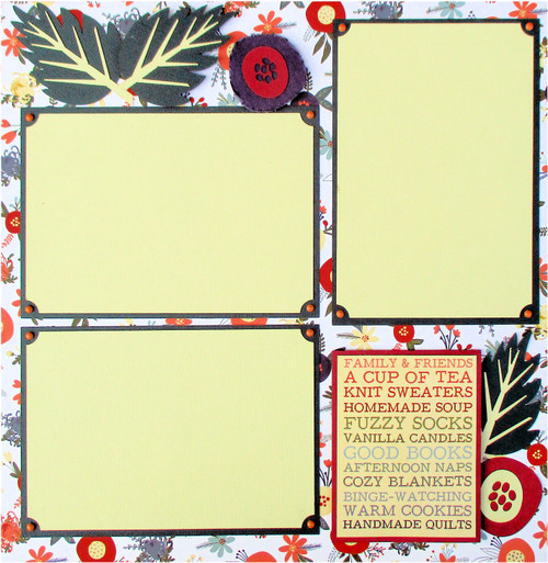 Fall Is In The Air Fully-Assembled, Premade 2 - 12 x 12 Page Scrapbook Layout by SSC Designs