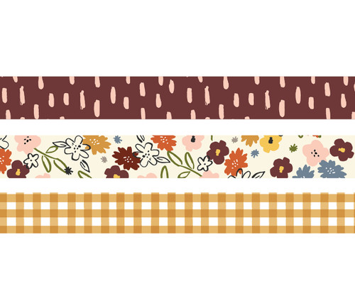 Cozy Days Collection Decorative Scrapbook Washi Tape by Simple Stories - (3) 15mm Rolls
