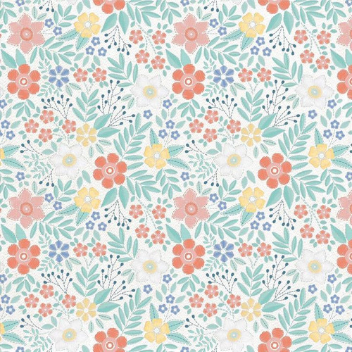 Crafternoon Collection Back Stitch 12 x 12 Double-Sided Scrapbook Paper by Kaisercraf