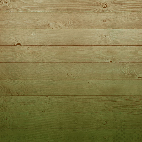 Life Is Better Collection Green Wood Background 12 x 12 Double-Sided Scrapbook Paper by Scrapbook Customs