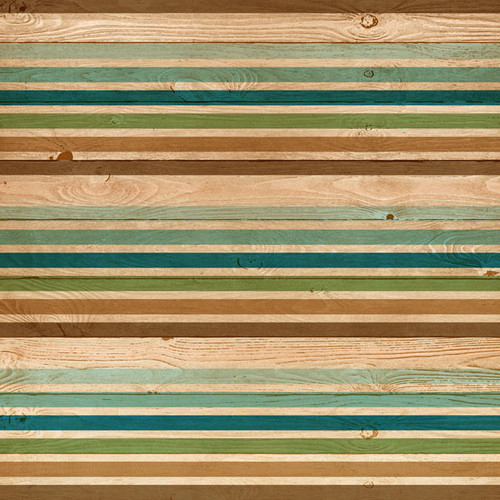 Life Is Better Collection Outdoor Stripes 12 x 12 Double-Sided Scrapbook Paper by Scrapbook Customs