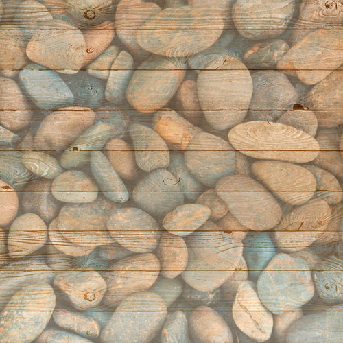 Life Is Better Collection Lake Rocks 12 x 12 Double-Sided Scrapbook Paper by Scrapbook Customs