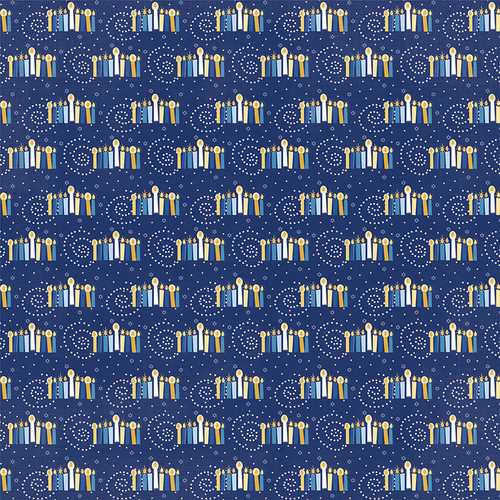Festival of Lights Collection Shalom 12 x 12 Double-Sided Scrapbook Paper by Photo Play Paper