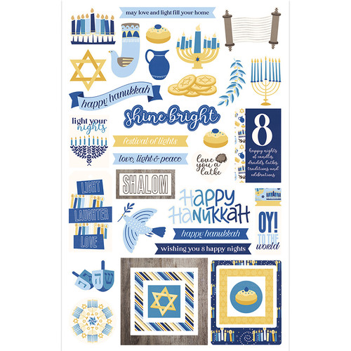 Festival of Lights Collection 5 x 5 Die Cut Scrapbook Embellishments by Photo Play Paper
