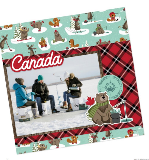 O Canada 2 Collection 12 x 12 Cardstock Scrapbook Sticker Sheet by Photo Play Paper