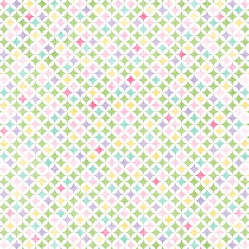 Easter Baskets & Bunnies Collection Easter Purple & Circle Diamond Damask 12 x 12 Double-Sided Scrapbook Paper by Scrapbook Customs