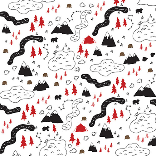 Let's Lumberjack Collection Under The Stars 12 x 12 Double-Sided Scrapbook Paper by Echo Park Paper