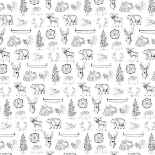 Let's Lumberjack Collection 4 x 4 Journaling Cards 12 x 12 Double-Sided Scrapbook Paper by Echo Park Paper