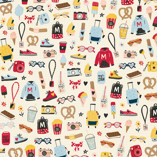 Say Cheese Main Street Collection Fun Starts Here 12 x 12 Double-Sided Scrapbook Paper by Simple Stories
