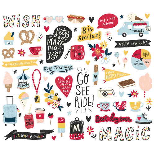 Say Cheese Main Street Collection Bits & Pieces Die Cut Cardstock Pieces by Simple Stories