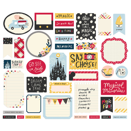 Say Cheese Main Street Collection Journal Bits Die Cut Cardstock Pieces by Simple Stories
