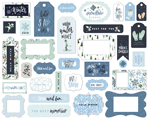 Winter Market Collection 5 x 5 Scrapbook Tags & Frames Die Cuts by Carta Bella