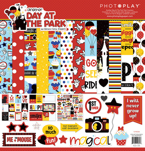 Another Day at the Park Collection Pack by Photo Play Paper 13-Piece Collection-12 Papers, 1 Sticker