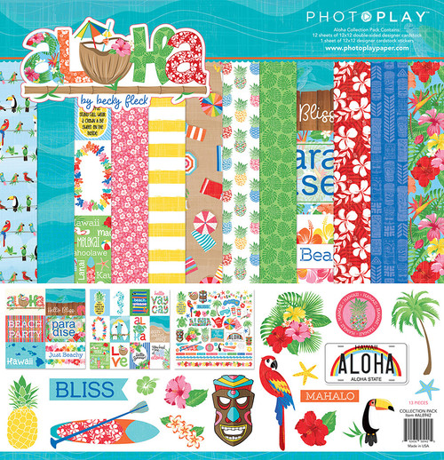 Aloha Collection Pack by Photo Play Paper 13-Piece Collection-12 Papers, 1 Sticker