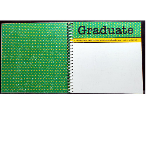 Crystal Lake South Gators, Crystal Lake, IL Graduation Mini Album Kit includes album, sticker, and cardstock by Scrapbook Customs
