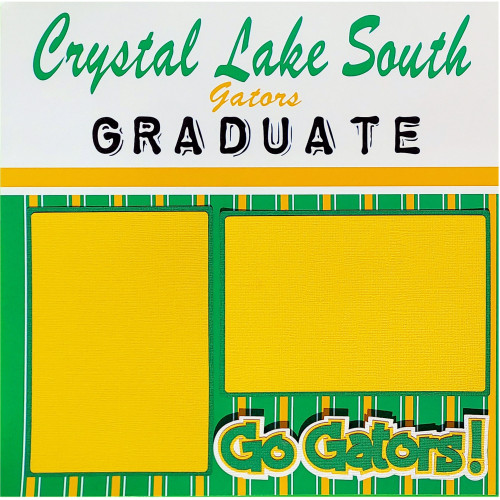 Crystal Lake South Class of 2021 Graduate Pre-Made Embellished Two-Page 12 x 12 Scrapbook Layout by SSC Designs