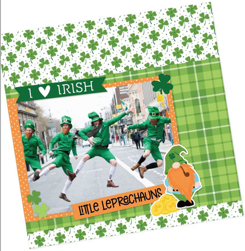 Lucky Charm Collection 12 x 12 Cardstock Scrapbook Sticker Sheet by Photo Play Paper