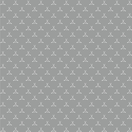 Game Day Hockey Collection Faceoff 12 x 12 Double-Sided Scrapbook Paper by Reminisce