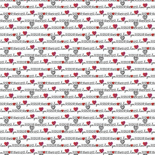 Love & Gratitude Collection Love & 12 x 12 Double-Sided Scrapbook Paper by Reminisce