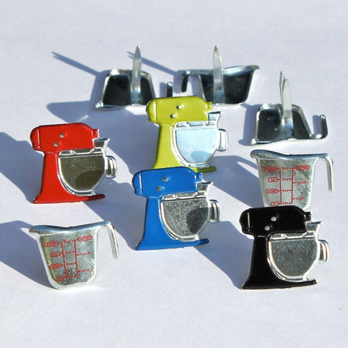 Measuring Cup & Mixer Brads by Eyelet Outlet - Pkg. of 12