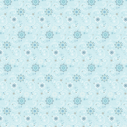 Winter Magic Collection Snowmen 12 x 12 Double-Sided Scrapbook Paper by Echo Park Paper