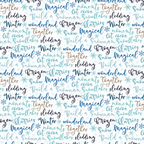 Winter Magic Collection Icy Snowflakes 12 x 12 Double-Sided Scrapbook Paper by Echo Park Paper