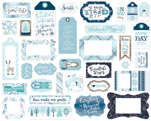 Winter Magic Collection 5 x 5 Scrapbook Tags & Frames Die Cuts by Echo Park Paper