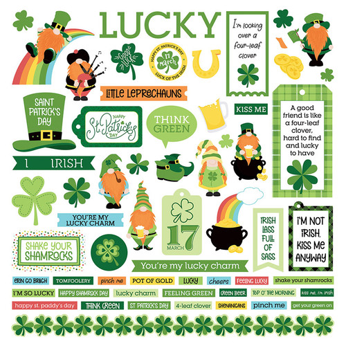 Lucky Charm Collection 12 x 12 Scrapbook Collection Pack by Photo Play Paper - 13 Pieces