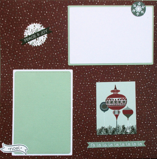 Winter Meadow Collection Noel 2 - 12 x 12 Pages, Fully-Assembled & Hand-Embellished 3D Scrapbook Layout by SSC Designs