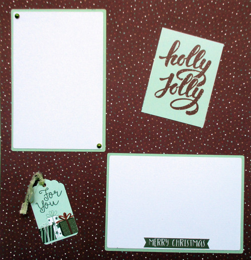Winter Meadow Collection Holly Jolly 2 - 12 x 12 Pages, Fully-Assembled & Hand-Embellished 3D Scrapbook Layout by SSC Designs