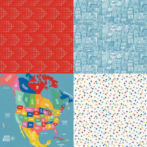 Time To Travel Collection Tourist Mode 12 x 12 Double-Sided Scrapbook Paper by Photo Play Paper