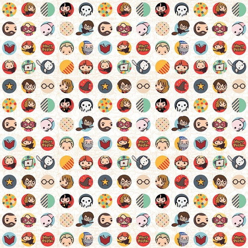 Harry Potter Collection Harry Potter Icons 12 x 12 Double-Sided Scrapbook Paper by Paper House Productions