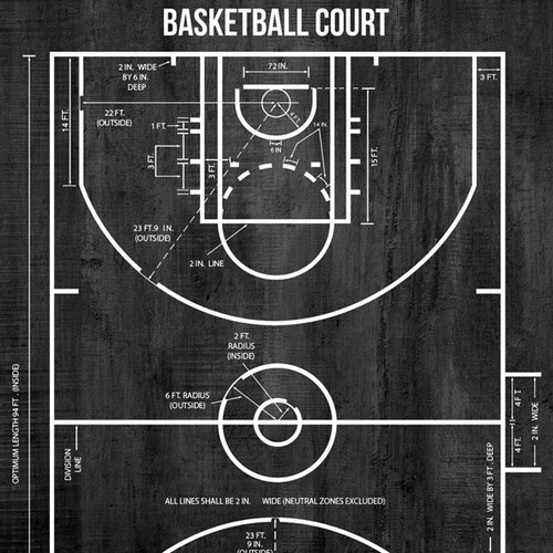 Wood Sports Collection Basketball Brown Wood 12 x 12 Double-Sided Scrapbook Paper by Scrapbook Customs