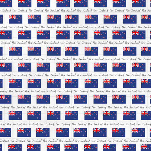 Travel Adventure Collection New Zealand Border 12 x 12 Double-Sided Scrapbook Paper by Scrapbook Customs